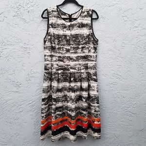 Nine West sleveless stripes dress
